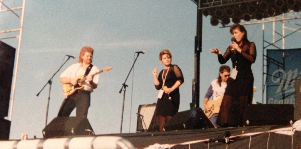 Riverfest from I don't know what year.  Maybe 1990?  Yes, I have dark hair here.
