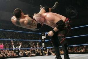 Wrestler-Kane-In-Action-With-Dave-Batista